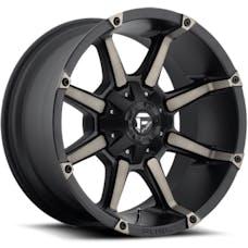 "Fuel Off-Road D55620002650 - Coupler Series Wheel - 20""x10"" - Bolt Pattern 5x4.5"" and 5x5"" - Backspacing 5"" - Offset -12 - Black"