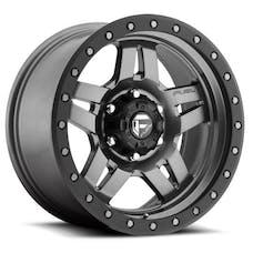 "Fuel Off-Road D55815806537 - Anza Series Wheel - 15""x8"" - Bolt Pattern 5x4.5"" - Backspacing 3.75"" - Offset -18 - Gunmetal Matte"
