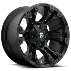 "Fuel Off-Road D56017902645 - Vapor Series Wheel - 17""x9"" - Bolt Pattern 5x4.5"" and 5x5"" - Backspacing 4.5"" - Offset -12 - Matte Black"