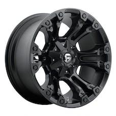 "Fuel Off-Road D56017902650 - Vapor Series Wheel - 17""x9"" - Bolt Pattern 5x4.5"" and 5x5"" - Backspacing 5"" - Offset 1 - Matte Black"