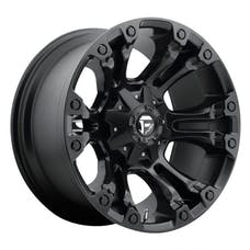 "Fuel Off-Road D56018902645 - Vapor Series Wheel - 18""x9"" - Bolt Pattern 5x4.5"" and 5x5"" - Backspacing 4.5"" - Offset -12 - Matte Black"