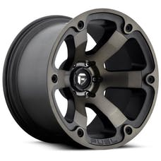 """Fuel Off-Road D56417907345 - Beast Series Wheel - 17""""x9"""" - Bolt Pattern 5x5"""" - Backspacing 4.5"""" - Offset -12 - Black and Machined"""