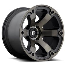 """Fuel Off-Road D56418907345 - Beast Series Wheel - 18""""x9"""" - Bolt Pattern 5x5""""- Backspacing 4.5"""" - Offset -12 - Black and Machined"""