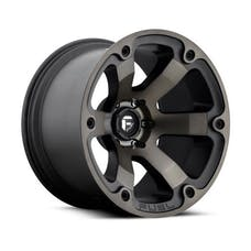 "Fuel Off-Road D56420907350 - Deep Lip Beast Series Wheel - 20""x9"" - Bolt Pattern 5x5"" - Backspacing 5"" - Offset 1 - Black and Machined"