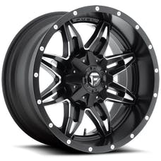 """Fuel Off-Road D56720002645 - Lethal Series Wheel -20""""x10"""" - Bolt Pattern 5x4.5"""" and 5x5"""" - Backspacing 4.5"""" - Offset -24 - Black and Milled"""