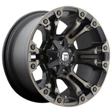 "Fuel Off-Road D56917902650 - Vapor Wheel - 17""x9"" - Bolt Pattern 5x4.5"" & 5x5"" - Backspacing 5"" - Offset 1 - Black & Machined Dark Tint"