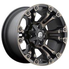 "Fuel Off-Road D56918902645 - Vapor Wheel - 18""x9"" - Bolt Pattern 5x4.5"" & 5x5"" - Backspacing 4.5"" - Offset -12 - Black & Machined Tint"