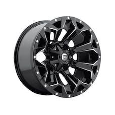 """Fuel Off-Road D57620002647 - Assault Wheel - 20""""x10"""" - Bolt Pattern 5x4.5"""" & 5x5"""" - Backspacing 4.75"""" - Offset -18 - Gloss Black"""