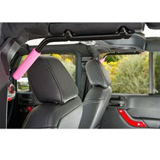 GraBars 1003P - Front & Rear GraBars - Black Steel with Pink Rubber Grip
