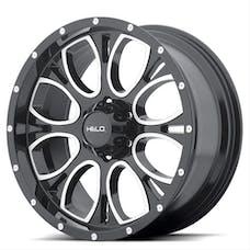 HELO Wheels HE87979050312N - HE879 17x9 5x127.00 GLOSS BLACK MACHINED & MILLED (-12 mm)