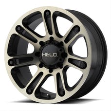 HELO Wheels HE90489050900 - HE904 18x9 5x127.00 SATIN BLACK MACHINED W/ DARK TINT (0 mm)