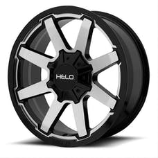 HELO Wheels HE90989035500 - HE909 18x9 5x127.00/5x139.70 GLOSS BLACK MACHINED (0 mm)