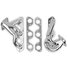 HOLLEY PERFORMANCE 92004-1FLT - Flowtech Shorty Headers, Ceramic Coated - Pair