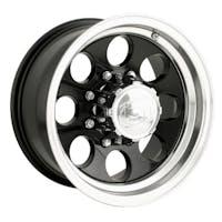 "Ion Wheels 171-6185B - 171 Series - Black Wheel 16"" X 10"" - 5"" X 5.5"" Bolt Pattern, Back Spacing 4"""