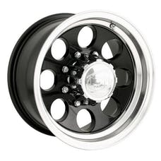 "Ion Wheels 171-6185B - 171 Series - Black Wheel 16"" X 10"" - 5"" X 5.5"" Bolt Pattern, Back Spacing 4"""