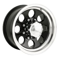 "Ion Wheels 171-7985B - 171 Series - 17""x9 "" - Bolt Pattern 5x5.5"" - Backspacing 5"" - Offset 0 - Black with Machined Lip"