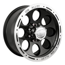 "Ion Wheels 174-5885B - 174 Series - Black Wheel 15"" X 8"" - 5"" X 5.5"" Bolt Pattern, Back Spacing 3.5"""