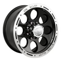 "Ion Wheels 174-6165B - 174 Series - Black Wheel 16"" X 10"" - 5"" X 4.5"" Bolt Pattern, Back Spacing 4"""