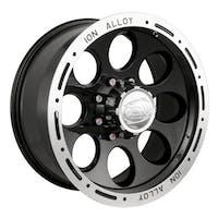 "Ion Wheels 174-6885B - 174 Series - Black Wheel 16"" X 8"" - 5"" X 5.5"" Bolt Pattern, Back Spacing 4.25"