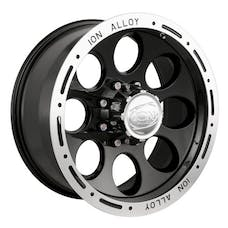 "Ion Wheels 174-6885B - 174 Series - Black Wheel 16"" X 8"" - 5"" X 5.5"" Bolt Pattern, Back Spacing 4.25"