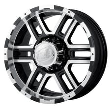 "Ion Wheels 179-2973B - 179 Series - Black/Machined Wheel 20"" X 9"" - 5"" X 5"" Bolt Pattern, Back Spacing 5.5"""