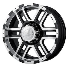 "Ion Wheels 179-7873B - 179 Series - Black/Machined Wheel 17"" X 8"" - 5"" X 5"" Bolt Pattern, Back Spacing 5"""