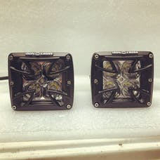 Iron Cross Automotive 1100-01 Cross Cubes LED Light Pair with Harness and Switch