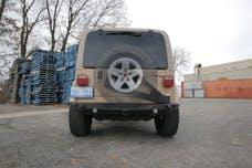 JCR Offroad SWBSC2-TJ-PC - Jeep TJ Tire Carrier 97-06 TJ/LJ Rear Shield Steel Powdercoat