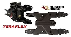 JAL-TFRR-CARRIER-HINGE - TERAFLEX ALPHA HD ADJUSTABLE SPARE TIRE MOUNTING KIT AND RUGGED RIDGE SPARTAN HD TIRE CARRIER HINGE - JEEP WRANGLER JL/JLU