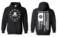 Jeeps Are life - American Flag Logo Hoodie - Black - Size 4XL