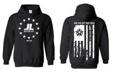 Jeeps Are life - American Flag Logo Hoodie - Black - Size 3XL