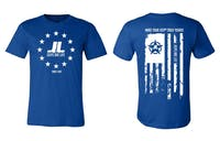 Jeeps Are Life - American Flag Logo T-Shirt - Royal Blue - Size XL