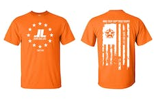 Jeeps Are Life - American Flag Logo T-Shirt - Orange - Size XXL