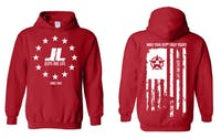 Jeeps Are life - American Flag Logo Hoodie - Red - Size XL