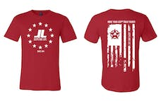 Jeeps Are Life - American Flag Logo T-Shirt - Red - Size XL