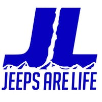 Jeeps Are Life 6x6 Die-Cut Logo Decal - Blue