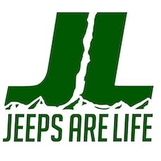 Jeeps Are Life 8x8 Die-Cut Logo Decal - Green