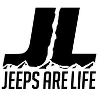 Jeeps Are Life 6x6 Die-Cut Logo Decal - Black