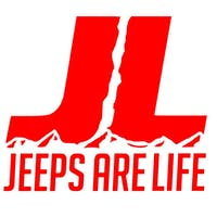 Jeeps Are Life 6x6 Die-Cut Logo Decal - Red