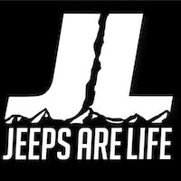 Jeeps Are Life 6x6 Die-Cut Logo Decal - White
