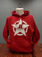 Jeeps Are Life - Star Logo Hoodie - Cherry Red - Medium
