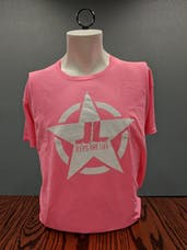 Jeeps Are Life - Star Logo T-Shirt - Safety Pink - 3XL