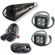 "Jeeps Are Life 50"" Light Bar, 3x3 Pod Light Combo Package - With Harnesses"