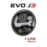 JW Speaker 0555613 Jeep Wrangler JK EVOLUTION J3 HEATED SERIES HEADLIGHT KIT, GRAPHITE