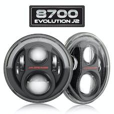 """JW Speaker 553973 - LED Headlights – Model 8700 Evolution J2 Series 7"""" Round Jeep Lights"""