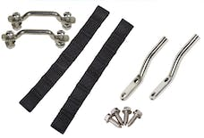 Kentrol 30725 Jeep Jeep CJ7/Wrangler YJ Door Strap Kit For Polished Stainless Steel