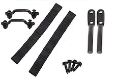 Kentrol 50724 Jeep Wrangler TJ Polished Stainless Door Strap Kit Black Powdercoat Stainless Steel