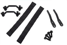 Kentrol 50725 Jeep CJ7/Wrangler YJ Door Strap Kit Black Powdercoat Stainless Steel