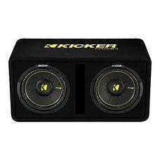"KICKER 44DCWC102 - Dual CompC 10"" Subwoofers in Vented Enclosure, 2 Ohm"