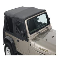King 4WD 14010135 Jeep Wrangler TJ Premium Replacement Soft Top With Upper Doors
